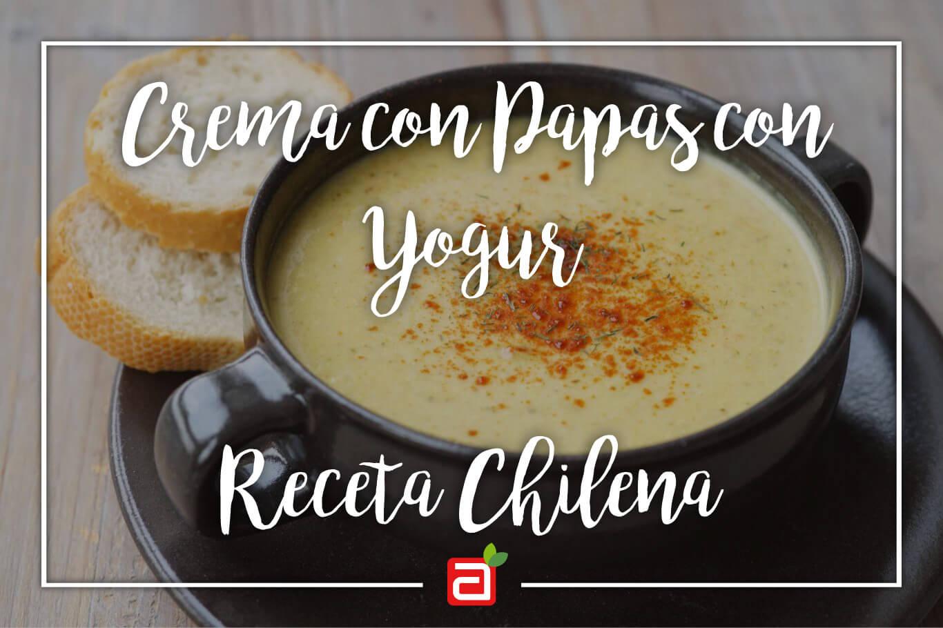 CREMA DE PAPAS CON YOGHURT