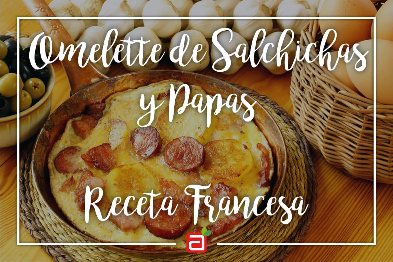 OMELETTE DE SALCHICHAS Y PAPAS