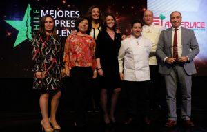 """Aliservice recibió premio """"Mejores Empresas Chilenas 2019"""""""