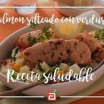 Salmón salteado con verduras