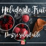 Helado de frutas naturales