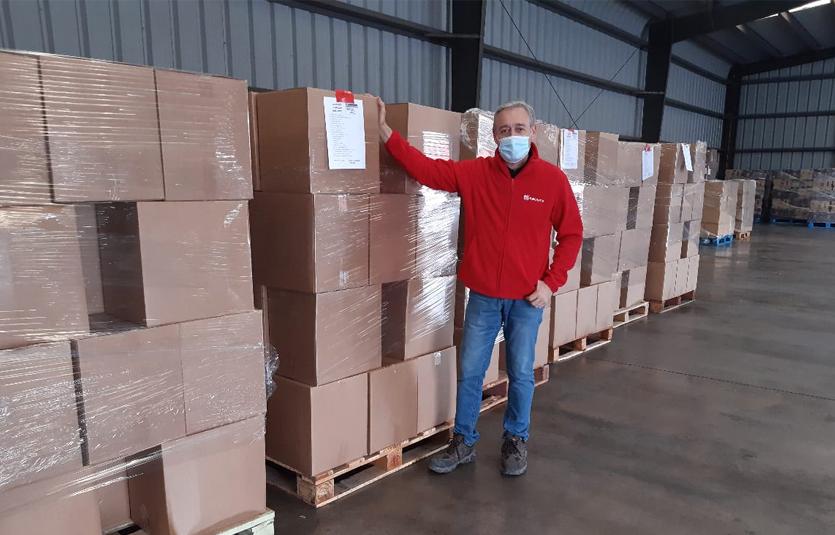 150.000 cajas de alimentos entregadas a las familias más necesitadas