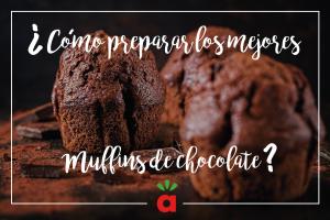 Muffins de chocolate con deliciosas chispas