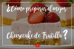 Cheesecake de frutilla fácil y delicioso